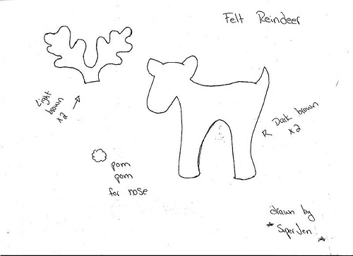 Download Reindeer Cutouts Patterns Plans DIY doll
