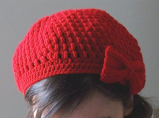 Puff Stitch Crochet Beret with Bow - Media - Crochet Me